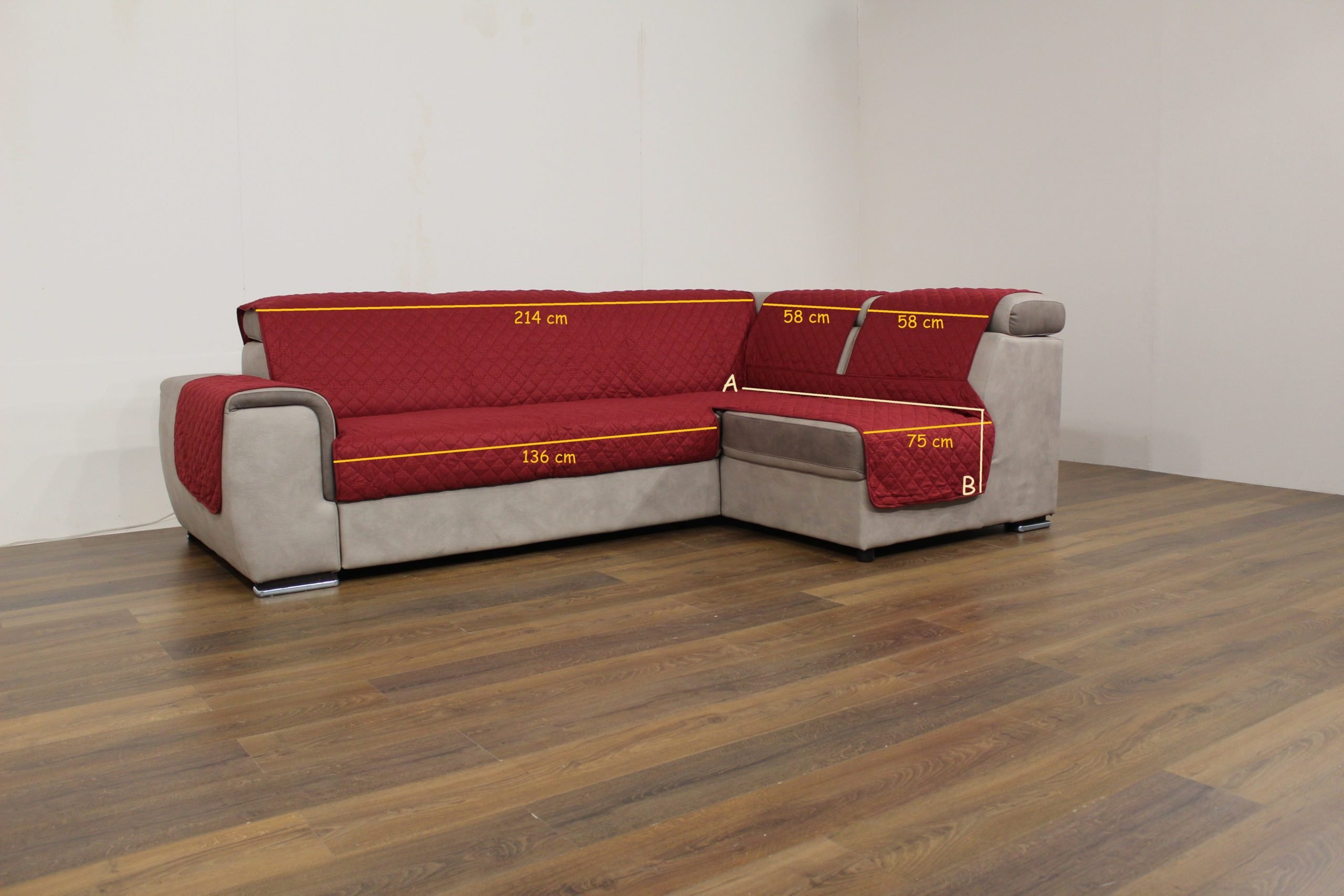 divano con misure